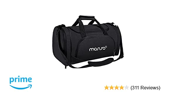 bfdcadbc9d6a Amazon.com  MOSISO Water Resistant Gym Sports Dance Travel Weekender Duffel  Bag with Shoe Compartment