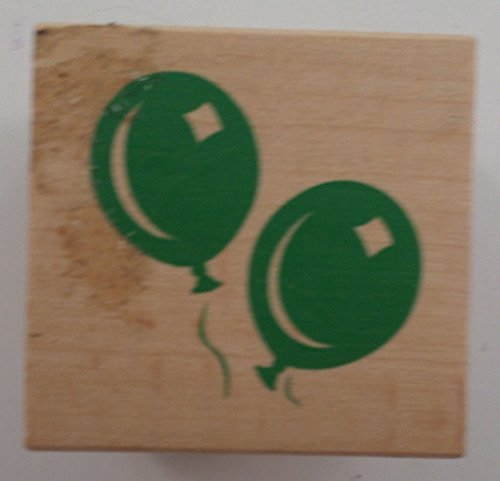 (It's A Party Balloons Celebration Birthday Wooden Rubber Stamp)