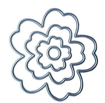 Fligatto - Molde para troquelar, diseño de flores, metal P