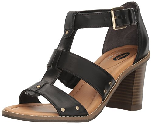 Scholl's Women's Proud Black Dr Gladiator Sandal Shoes dqp1wSPE