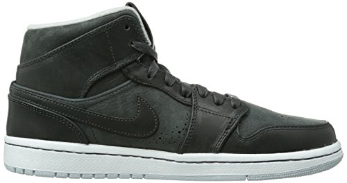 Nike Air Jordan 1 Mid 629151 Herren Low-Top Sneaker Schwarz (Schwarz)