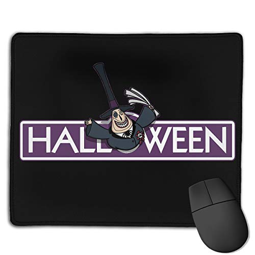 Benjamin Forbes Personalized Halloween Town Rectangle Waterproof Material Non-Slip Rubber Gaming Mouse Pad ()