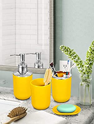 Story At Home Bathroom Accessories Set Yellow 13 X 3 Cm Bs1105 Buy Online At Best Price In Uae Amazon Ae