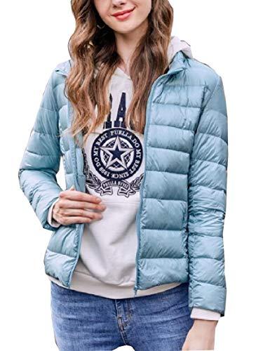 Blue Women's Jacket Lightweight Light Ultra Packable security Zip Down 8pdwgffq