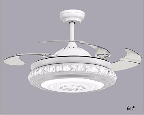 ZY * Ventilador de techo con lámpara Dormitorio Lámparas de araña ...
