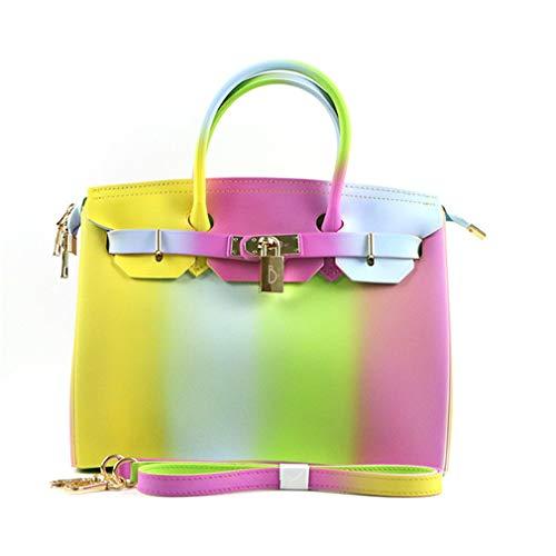 1 épaule Sacs Sac Sac PVC 1 Couleur Femmes Candy Main à Plage Jelly de Color Color qqBpTK8Zw