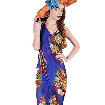 Timagebreze Vestido de Playa para Mujer Vestido de Playa con ...