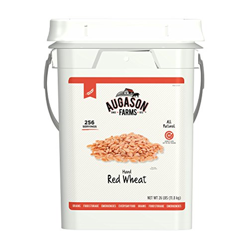 Augason Farms Hard Red Wheat Emergency Food Storage 26 Pound Pail