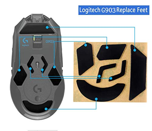 Quartet trade Mouse Skatez/Mouse Feet for Logitech G903 Gaming Mouse(Thicker Version 0.7mm)