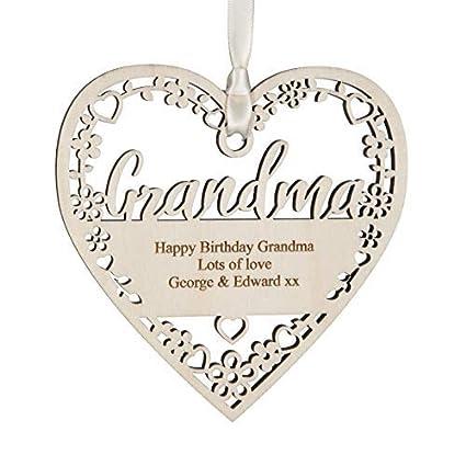 Alphabet Barn Grandma Birthday Present Gift Personalised Handmade Keepsake Decoration 12cm X 5mm With Bag Amazoncouk Kitchen Home