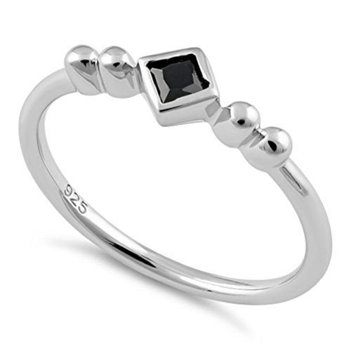 Black Geometric Ring - 7