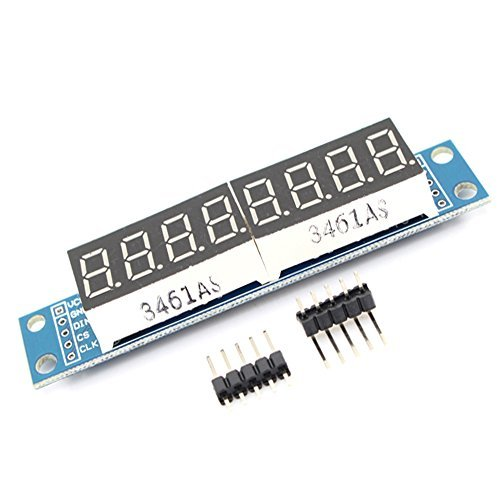 GUWANJI MAX7219 CWG 8-Digit Digital Display Control Module 8-Digit 7 Segment Digital LED Display Tube for Arduino