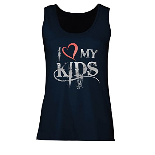 lepni.me Womens Tank Tops Funny Fishing Gift, I Love Of Fish, Birthday, Anniversary Present, Gift Ideas (Small Blue Multi Color)