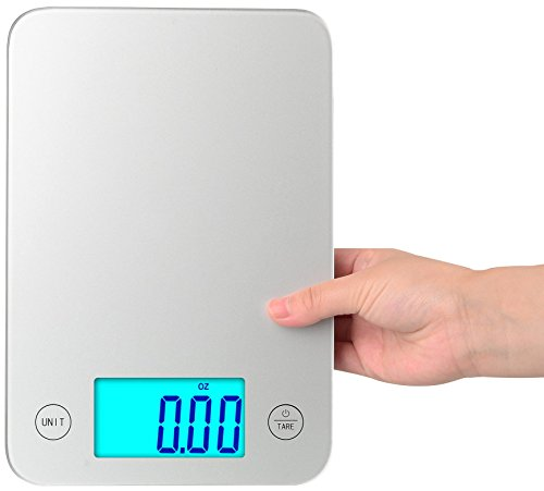 BalanceFrom High Accuracy Touch Multifunction Digital Kitchen Scale with Extra Large Backlight (Glass Kitchen Scale)