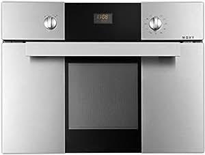 NOVY 2525 - Horno (40L, Electricidad / Gas, 50 - 250 °C, Integrado, Acero inoxidable, Giratorio)