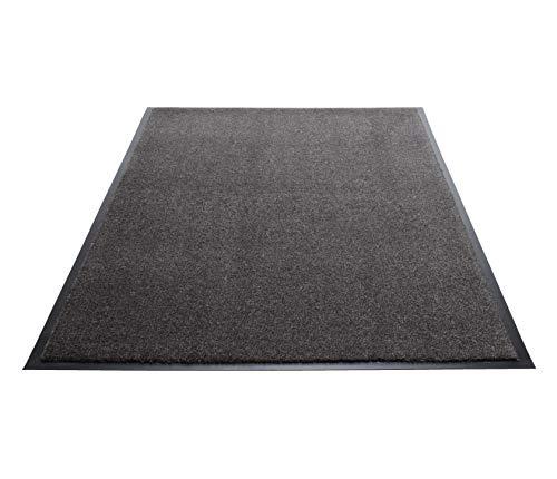 Guardian Silver Series Indoor Walk-Off Floor Mat, Vinyl/Polypropylene, 3'x10', Sable