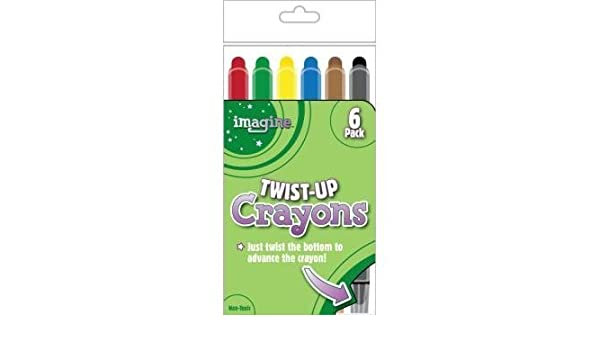 Imagine 354889 Twist-Up Crayons, Assorted Colors (6 Pack) by ...