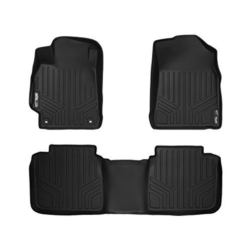 MAXFLOORMAT Floor Mats 2 Row Set Black for 2015-2017 Toyota Camry (New Body Style)