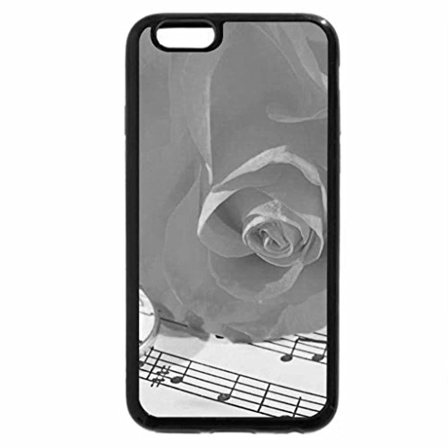 iPhone 6S Case, iPhone 6 Case (Black & White) - Music for Rose and Rings
