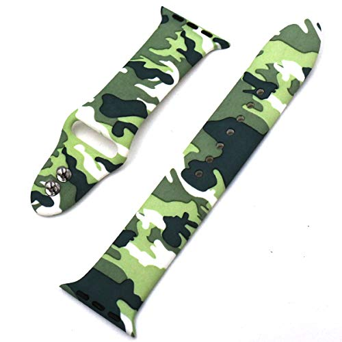 Eletespt 40mm Straps ompatible with Apple Watch Series 4 3 2 1 Bands, Sport Durable Accessories Replacement Band Strap for iWatch Men Women 38mm Wristband (Camo 38MM)     by Eletespt (Image #3)