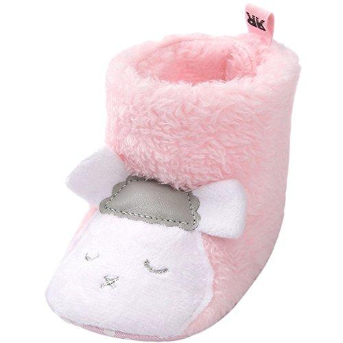 Fire Frog Cartoon Winter Boots - Patucos para niño Pink Sheep
