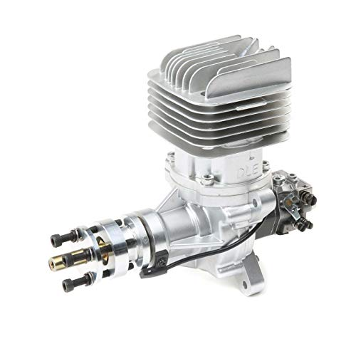 Dle Engines DLE-55RA 55cc Electronically Ignited Rear Exhaust Gasoline RC Aircraft Engine with Muffler for Gas Model Planes ()