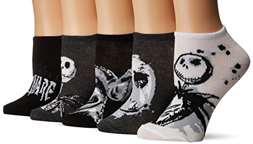 Disney Women's Nightmare Before Christmas 5 Pack No Show Socks, Assorted Neutral, 9-11 Fits Shoe Size 4-10.5]()