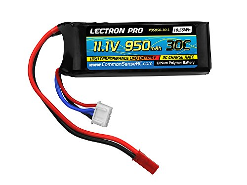 Lectron Pro 11.1V 950mAh 30C Lipo Battery with JST Connector for the Blade 200 SR X, CX4, T-Rex 250 -