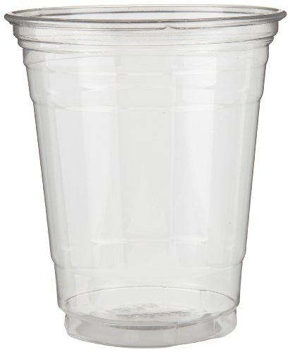 Dixie CP1214 Plastic PETE Cup, 14 oz Capacity, Clear (20 Sleeves of 50)