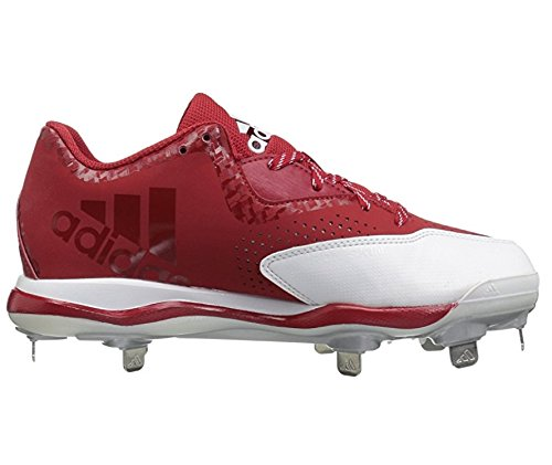 adidas Men's Freak X Carbon Mid Baseball Shoe, Power Red/White/Silver Metallic, (9.5 M US)