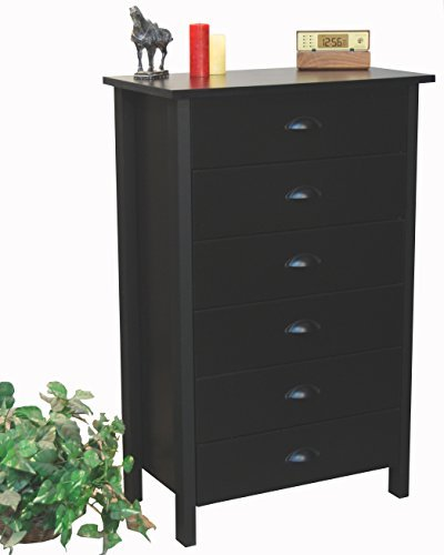 Venture Horizon 6 Drawer Chest Black