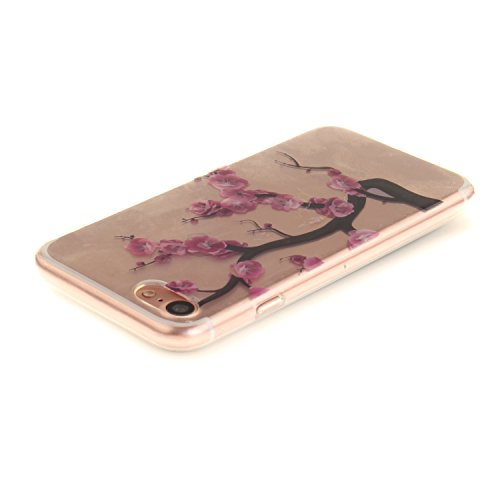 MOONCASE iPhone 7 Hülle Case,Slim Handyhülle Schutzhülle Rutschfestem TPU Soft Backcover Bumper Case für iPhone iPhone 7 TX14