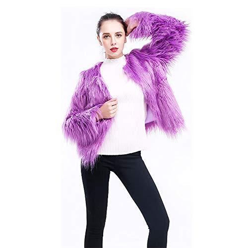 Belldan Faux Fur Jackets for Women Faux Fur Coat for Women Winter Parka Outerwear Tops ()