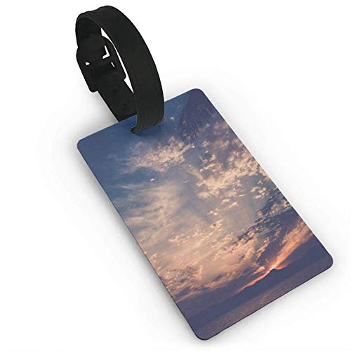 - Beautiful Sunset by The Sea Printed,Travel Suitcase Bag Tags,Stylish and Recognizable,Luggage Tag,Writeable Name On The Back,ID Name Car Consignment Card