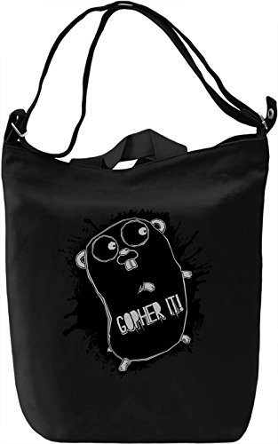 Gopher It Borsa Giornaliera Canvas Canvas Day Bag| 100% Premium Cotton Canvas| DTG Printing|