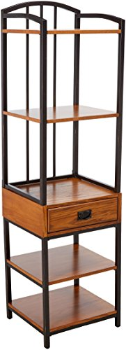 (Home Style 5050-13 Modern Craftsman Gaming Tower, Distressed Oak Finish)