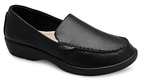 OLIVIA K Women's Easy Slip On Resistant Flatform Daily Life Shoes by OLIVIA K
