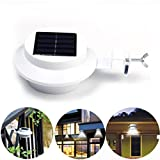 Solar Lights, TopElek 4 LED Solar Powered Security Lights,Waterproof Outdoor Solar Powered Wireless Sensor Fence Light for Garden, Patio, Fence, Yard, Pathway, Hall, Driveway, Garage, Stairway, Gate, Wall (Built-in 1x AA 1200mAh Rechargable Battery)