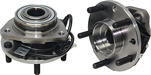 (4x4 Models Pair or 2 New Front Wheel Hub and Bearing Assembly 5 Lug W/ABS fits [97-05 Blazer 4x4] [97-04 S10 4x4] [97-05 Jimmy 4x4] [97-04 Sonoma 4x4] [98-00 Hombre)
