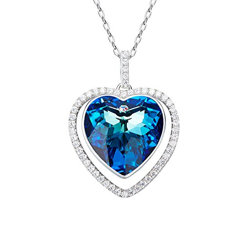 [D.B.MOOD Women's Elegant 18k White Gold Plated Austria Crystal Wings Necklace Heart Pendant Necklaces] (Simple Halloween Costumes For High School)
