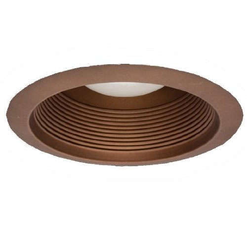 NICOR Lighting 6-Inch Airtight Recessed Cone Baffle Trim, Oil-Rubbed Bronze (17550AOB)
