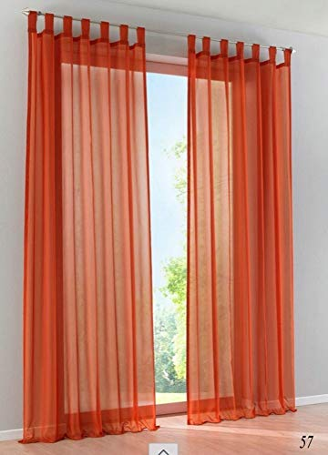 Be&xn Elegance Scarf Valance Soft Sheer Voile Translucent 1 Panel Window Curtain for for Bedroom Living Room-Terracotta 140x270cm(55x106inch)