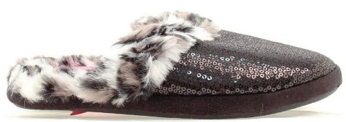 Sequin Fur Faux Slide Roxx Black Women's Slippers Blazin UwYzxp