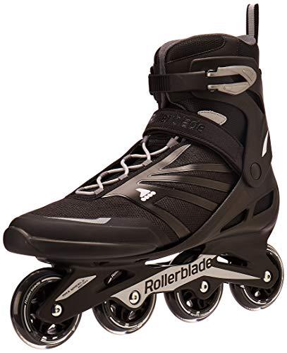 Rollerblade Zetrablade Men's Adult Fitness Inline Skate, Black/Silver, US Men's 13