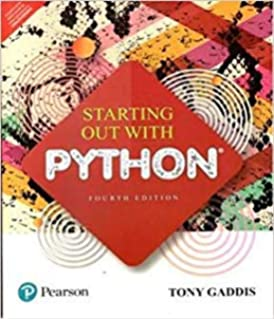 Starting Out with Python (4th Edition): 0000134444329: Computer