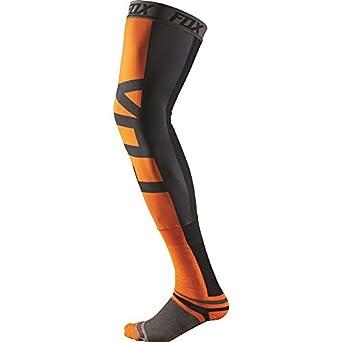 Fox Racing Hombres de Proforma Estabilizador de rodilla calcetines de motocross, color naranja y negro