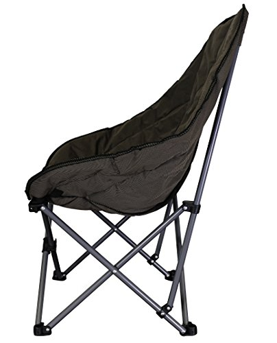 Stylish Camping 36031 Brown Foldable High Back Camp Chair by Stylish Camping