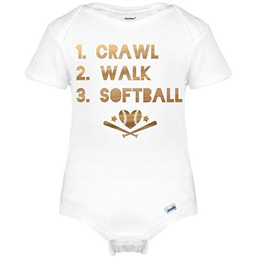 Softball Onesie (Customized Girl Metallic Softball Onesie: Infant Gerber Onesies)