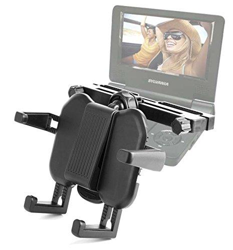 DURAGADGET Sturdy Adjustable Car Headrest Holder for Sylvania SDVD9000B2, 9 Inch Swivel Screen CD/MP3and SDVD7027, 7 Inch Portable DVD Player