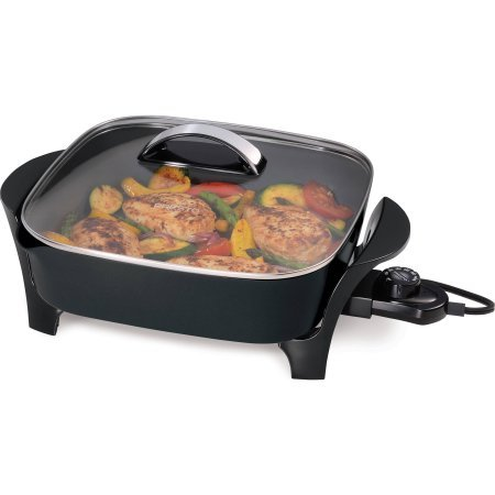 Presto 12-inch Electric Skillet with glass cover
